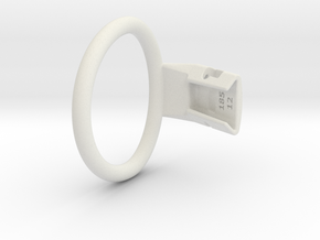 Q4e single ring L 58.9mm in White Premium Versatile Plastic