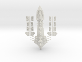 Tzeechen_2_capital_ship in White Natural Versatile Plastic