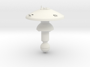 Space Dock in White Natural Versatile Plastic