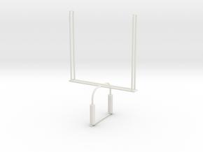 'HO Scale' - Football Goalpost in White Natural Versatile Plastic