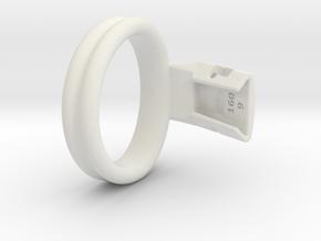 Q4e double ring M 50.9mm in White Premium Versatile Plastic