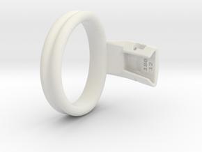 Q4e double ring L 57.3mm in White Premium Versatile Plastic