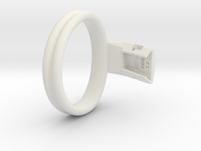 Q4e double ring L 63.7mm in White Premium Versatile Plastic