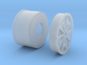 1967 Turbine wheel 1-20 in Smooth Fine Detail Plastic