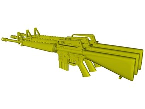 1/16 scale Colt M-16A1 rifles w 20rnds mag x 3 in Smooth Fine Detail Plastic