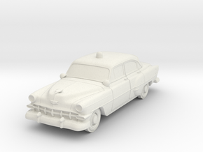 1954 Chevy Police Car in White Natural Versatile Plastic