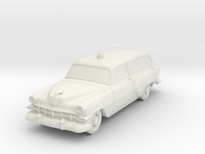 1954 Chevy Police Wagon in White Natural Versatile Plastic
