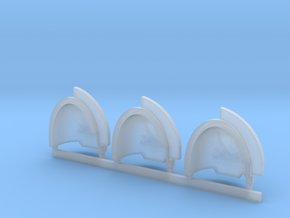 Blood and Shield Aggressive Shoulder pads L in Smooth Fine Detail Plastic