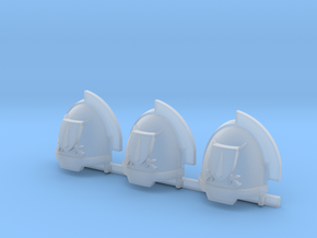 Blood and Shield Aggressive Shoulder pads R in Smooth Fine Detail Plastic