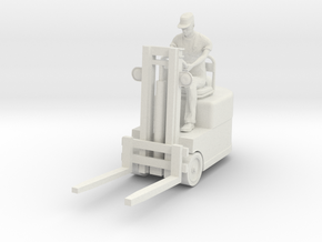 Fork lift with figure 1/72  in White Natural Versatile Plastic
