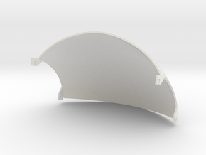 Guy helmet wire plate - 2mm shell in White Natural Versatile Plastic