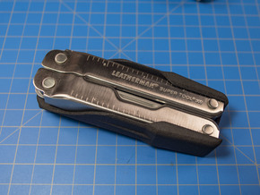 Holster for Leatherman Super Tool 300 in Black Natural Versatile Plastic: Small