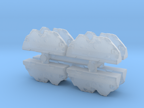 Wrecked Traffic Barrier (x8) 1/220 in Smooth Fine Detail Plastic
