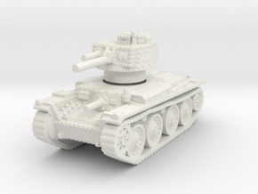 Panzer 38t D 1/120 in White Natural Versatile Plastic