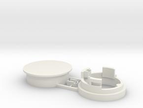Einbauhalterung Magnetbandweiche Car System, 2-tei in White Natural Versatile Plastic