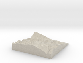 Model of Third Gap in Natural Sandstone