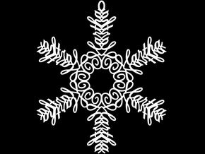 Martha snowflake ornament in White Natural Versatile Plastic
