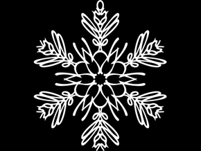 Kellor snowflake ornament in White Natural Versatile Plastic