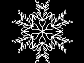 Paige snowflake ornament in White Natural Versatile Plastic