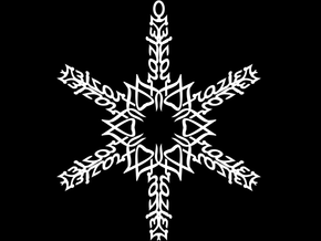 Frazier snowflake ornament in White Natural Versatile Plastic