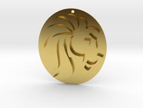 Vintage Lionheart Collection- Pendant in Polished Brass