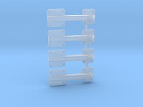 EC135 Rear Door Hinge (x4) 1/8  in Smooth Fine Detail Plastic