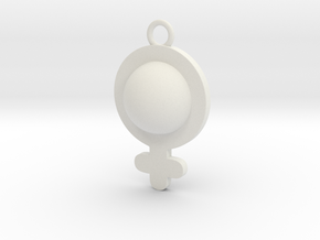 Cosplay Charm - Venus/Female Symbol (style 1) in White Natural Versatile Plastic