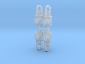 x4 OO/HO Head Lamp BR, LNER, NWR, etc in Smooth Fine Detail Plastic