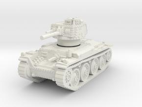 Panzer 38t E 1/76 in White Natural Versatile Plastic