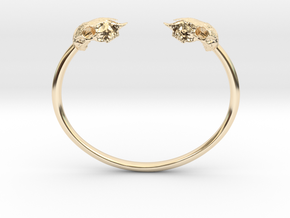 Sheep Skull Band in 14k Gold Plated Brass