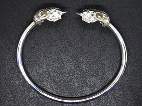 Sheep Skull Band in Polished Silver