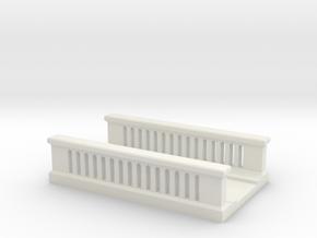 Concrete Bridge 1/76 in White Natural Versatile Plastic