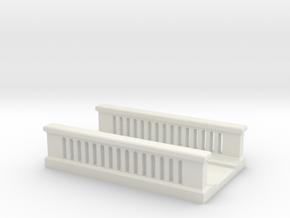 Concrete Bridge 1/120 in White Natural Versatile Plastic