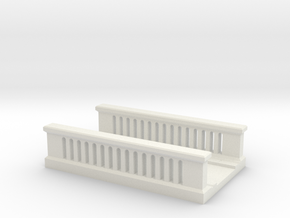 Concrete Bridge 1/144 in White Natural Versatile Plastic