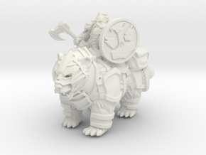 Dwarf Rider in White Natural Versatile Plastic