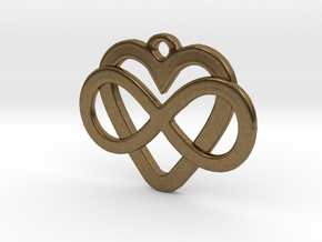 Infinity Heart Pendant  in Natural Bronze