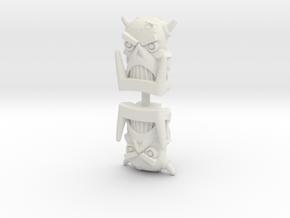 Death's Head Face (Titans Return/PotP) in White Natural Versatile Plastic