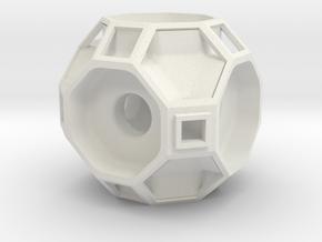 Truncated Cuboctahedron Modular Wire Organizer in White Natural Versatile Plastic