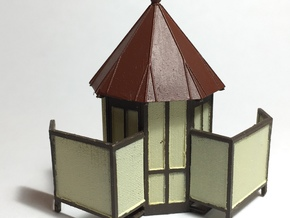 HO Reading Outhouse - Plain Roof in Smooth Fine Detail Plastic