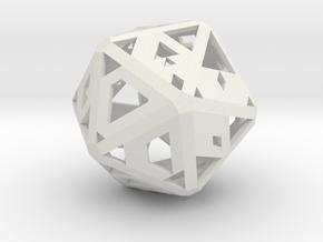 Future-Proof Hollow D20 in White Natural Versatile Plastic