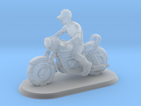 1/144 Motorcycle Rider in Smooth Fine Detail Plastic