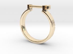 Cowboy Shackle Ring - Sz. 7 in 14K Gold