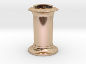 4DPGW001 - Replacement GWR 64xx Chimney (00 EM P4) in 14k Rose Gold Plated Brass