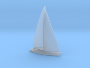 1/700 Large Sailing Yacht With Sails in Smoothest Fine Detail Plastic