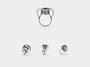 Infinity Open Circle Ring .Minimalist Statement in Polished Silver: 6.5 / 52.75