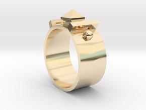 Edwardian Guard Ring - Sz. 5 in 14K Gold