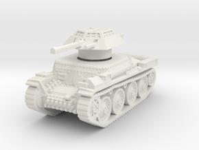 Auf panzer 38t 20mm 1/76 in White Natural Versatile Plastic