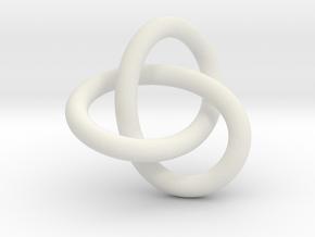 Tri Knot Pendant in White Natural Versatile Plastic