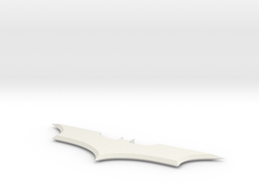 Dark Knight Batarang  in White Natural Versatile Plastic