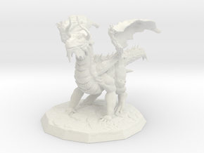 Regal Dragon in White Natural Versatile Plastic